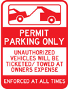 UPsafety Parking Signs