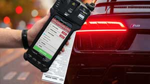 traffic citation with UPsafety N5SCAN device